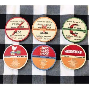 Woodstock Coasters, Complete set, 6 coasters